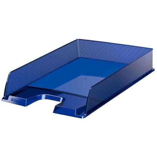 Briefkorb Europost für A4 243x332x57mm dunkelblau transparent kunststoff Esselte 623600 Produktbild Front View L