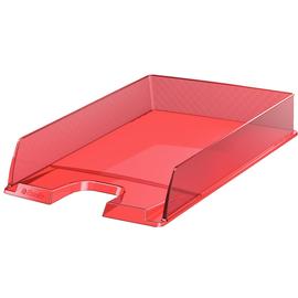Briefkorb Europost für A4 243x332x57mm rot transparent Kunststoff Esselte 623601 Produktbild