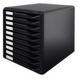 Schubladenbox 10 Schübe 285x290x355mm Gehäuse schwarz Schübe schwarz Kunststoff Leitz 5294-00-95 Produktbild