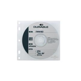 CD/DVD Cover File mit Schutzvlies für 1 CD/DVD mit Booklet oder 2 CDs/DVDs mit Lochung transparent Durable 5239-19 (BTL=10 STÜCK) Produktbild