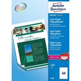 Fotopapier Laser+Kopier Superior Colour A4 120g weiß beidseitig glossy Zweckform 1198 (PACK=200 BLATT) Produktbild