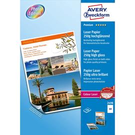 Fotopapier Laser+Kopier Premium Colour A4 250g weiß beidseitig high-glossy Zweckform 2498 (PACK=100 BLATT) Produktbild