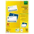 Visitenkarten Inkjet+Laser+Kopier 85x55mm 225g weiß beidseitig bedruckbar glatte Kanten Sigel LP850 (PACK=100 STÜCK) Produktbild