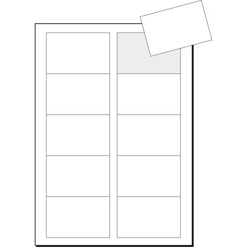Visitenkarten Inkjet+Laser+Kopier 85x55mm 250g weiß beidseitig bedruckbar glatte Kanten Sigel LP853 (PACK=100 STÜCK) Produktbild Additional View 2 L