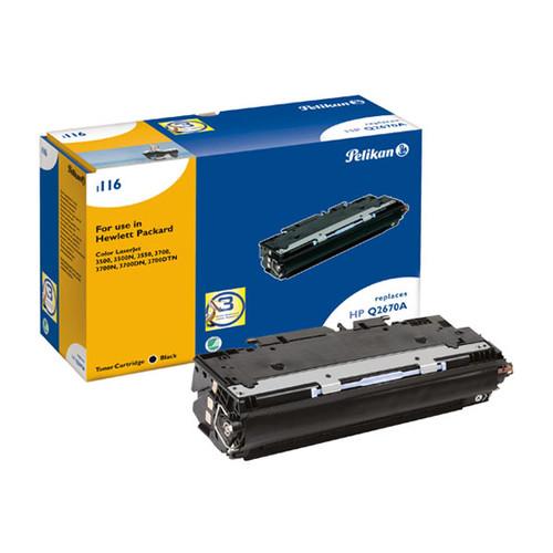 Toner Gr. 1116 (Q2670A) für Color LaserJet 3500/3550/3700 6000Seiten schwarz Pelikan 624932 Produktbild Front View L