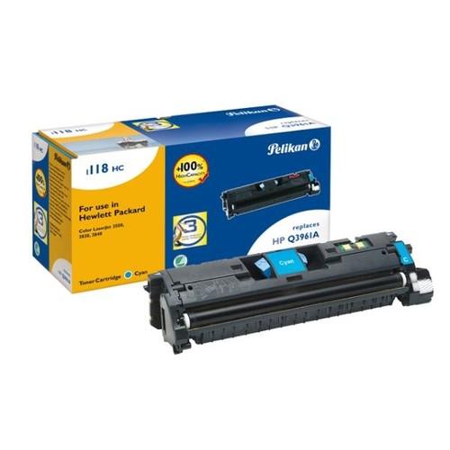 Toner Gr. 1118HC (Q3961A) für Color LaserJet 2550/2800/2820/2840 4000Seiten cyan Pelikan 626943 Produktbild Front View L