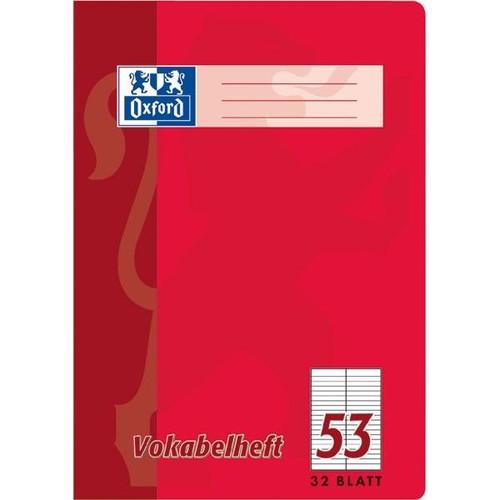 Vokabelheft Oxford A4 liniert 4 Farben sortiert 2 Spalten 32Blatt 90g Optik Paper weiß 100050336 Produktbild Additional View 2 L