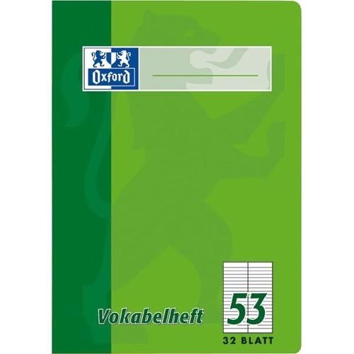 Vokabelheft Oxford A4 liniert 4 Farben sortiert 2 Spalten 32Blatt 90g Optik Paper weiß 100050336 Produktbild Additional View 3 L