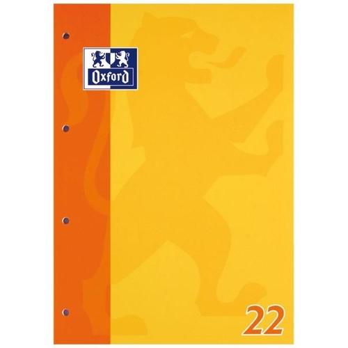 Schulblock 4-fach Lochung Oxford A4 Lin.22 kariert 50Blatt 90g Optik Paper weiß 100050348 Produktbild Additional View 2 L
