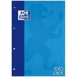 Schulblock 4-fach Lochung Oxford A4 Lin.22 kariert 50Blatt 90g Optik Paper weiß 100050348 Produktbild Additional View 3 S