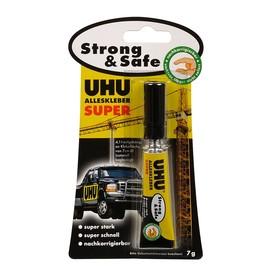 Klebstoff Alleskleber Super Strong&Safe 7g Tube stark klebend UHU 46960 (TUBE=7 GRAMM) Produktbild