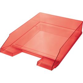 Briefkorb Economy für A4 245x347x67mm rot transparent Kunststoff Helit H2361520 Produktbild