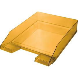 Briefkorb Economy für A4 245x347x67mm orange transparent Kunststoff Helit H2361540 Produktbild