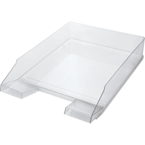 Briefkorb Economy für A4 245x347x67mm glasklar Kunststoff Helit H2361502 Produktbild Front View L
