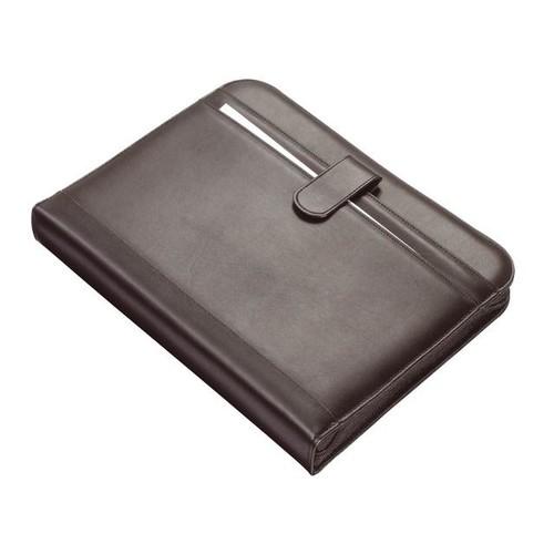 Ringbuchmappe mit Reißverschluß RICCIONE A4 schwarz Lederimitat Alassio 30040 Produktbild
