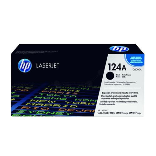 Toner 124A für Color LaserJet 1600/2600/2605 2500Seiten schwarz HP Q6000A Produktbild Front View L
