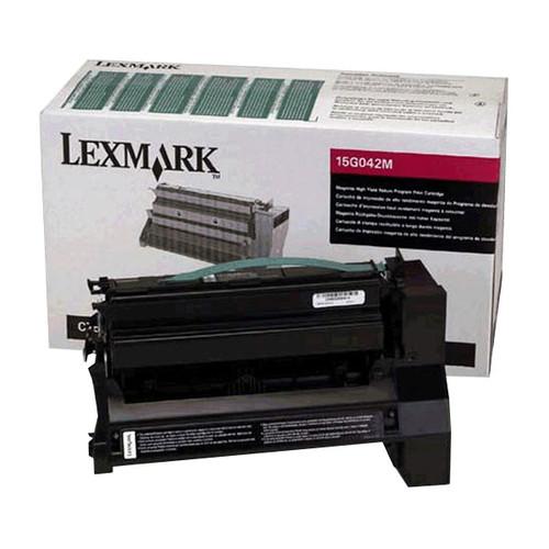 Toner für Optra C752 15000Seiten magenta Lexmark 15G042M Produktbild Front View L