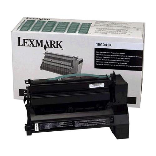 Toner für Optra C752 15000Seiten schwarz Lexmark 15G042K Produktbild Front View L