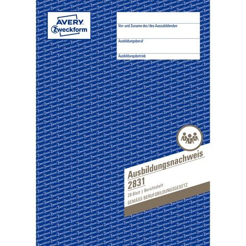 Ausbildungsnachweisbuch für wöchentliche Eintragungen A4 28Blatt Zweckform 2831 Produktbild Additional View 1 L