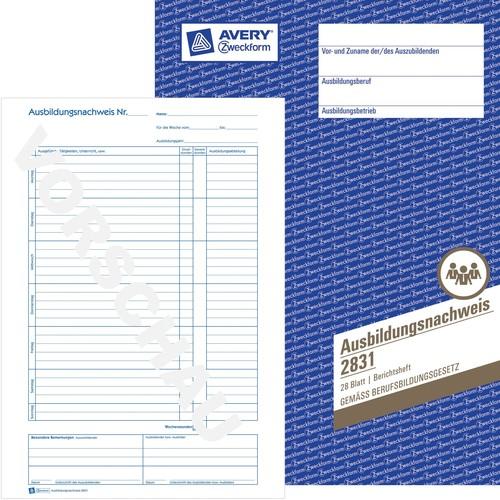 Ausbildungsnachweisbuch für wöchentliche Eintragungen A4 28Blatt Zweckform 2831 Produktbild Additional View 3 L