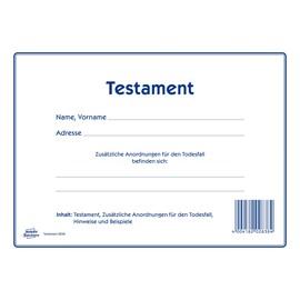 Testament-Vordruck 220x163mm weiß Zweckform 2838 Produktbild