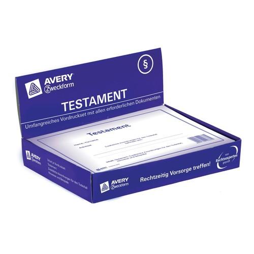 Testament-Vordruck 220x163mm weiß Zweckform 2838 Produktbild Additional View 6 L