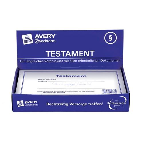Testament-Vordruck 220x163mm weiß Zweckform 2838 Produktbild Additional View 7 L