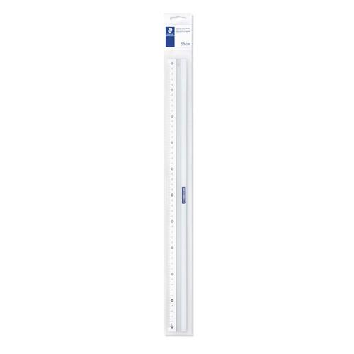Lineal 50cm silber Aluminium Staedtler 56350 Produktbild Front View L