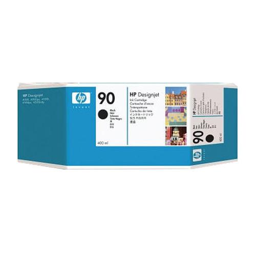 Tintenpatrone 90 für HP DesignJet 4000/4500 400ml schwarz HP C5058A Produktbild Front View L