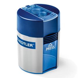 Doppelspitzer mit Behälter oval hoch blau/silber Staedtler 512001 Produktbild