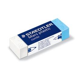 Radiergummi Mars plastic 65x13x23mm weiß/blau Kunststoff Staedtler 526508 Produktbild
