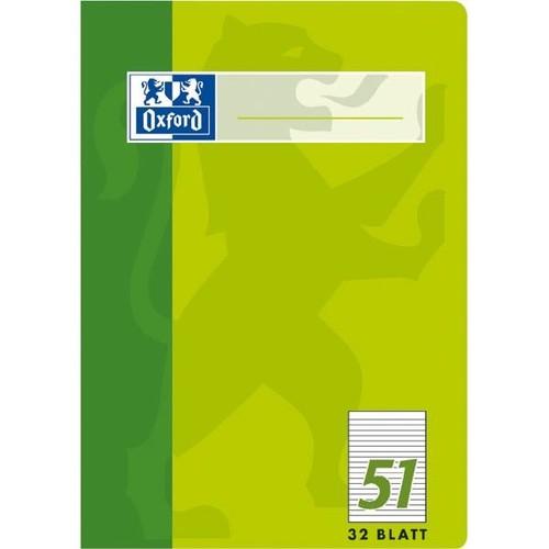 Oktavheft Oxford A6 liniert farbig sortiert 32Blatt 90g Optik Paper weiß 100050396 Produktbild Additional View 1 L