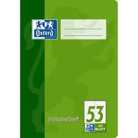 Vokabelheft Oxford A5 liniert 4 Farben sortiert 2 Spalten 32Blatt 90g Optik Paper weiß 100050383 Produktbild