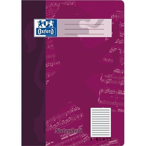 Notenheft Oxford A4 ohne Hilfslinien 8Blatt 90g Optik Paper weiß 100050363 Produktbild Additional View 1 L
