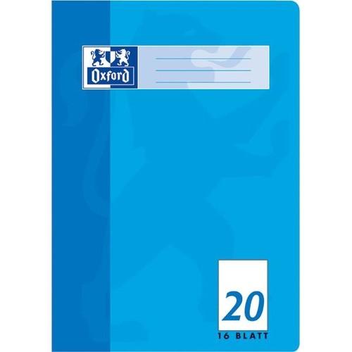 Heft Oxford A4 Lineatur 20 blanko mit Linienblatt 16Blatt 90g Optik Paper weiß 100050306 Produktbild Additional View 1 L