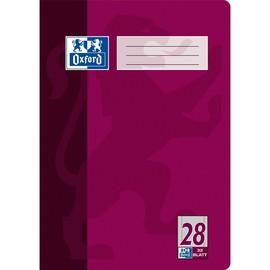 Heft Oxford A4 Lineatur 28 kariert Rand links+rechts 32Blatt 90g Optik Paper weiß 100050332 Produktbild