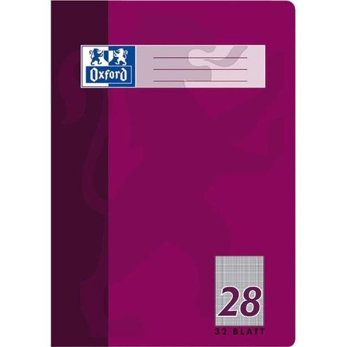 Heft Oxford A4 Lineatur 28 kariert Rand links+rechts 32Blatt 90g Optik Paper weiß 100050332 Produktbild Additional View 1 L