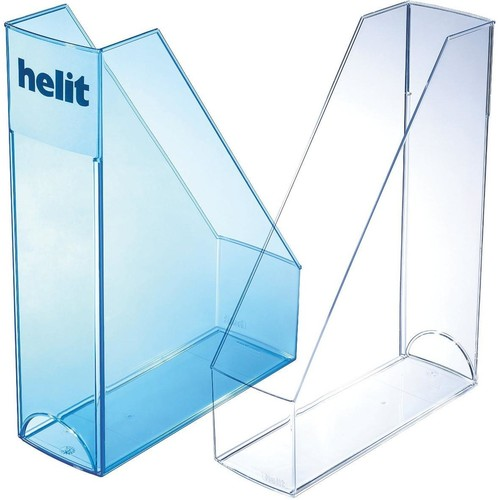 Stehsammler Economy 85x240x322mm glasklar Kunststoff Helit H2361402 Produktbild Additional View 1 L