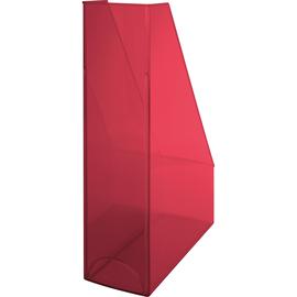 Stehsammler Economy 85x240x322mm rot transparent Kunststoff Helit H2361420 Produktbild