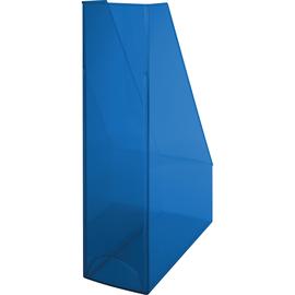 Stehsammler Economy 85x240x322mm blau transparent Kunststoff Helit H2361430 Produktbild