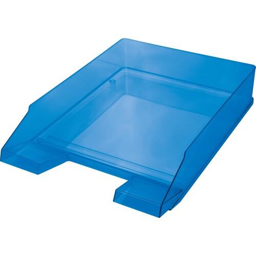 Briefkorb Economy für A4 245x347x67mm blau transparent Kunststoff Helit H2361530 Produktbild Front View L