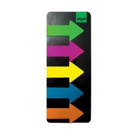 Haftmarker Film Pfeile Big Arrow 55x137mm 5 Leuchtfarben transparent Sigel HN600 (PACK=5x 25 STÜCK) Produktbild