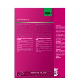 Fotopapier Laser+Kopier A4 200g hochweiß beidseitig glossy Sigel LP144 (PACK=100 BLATT) Produktbild