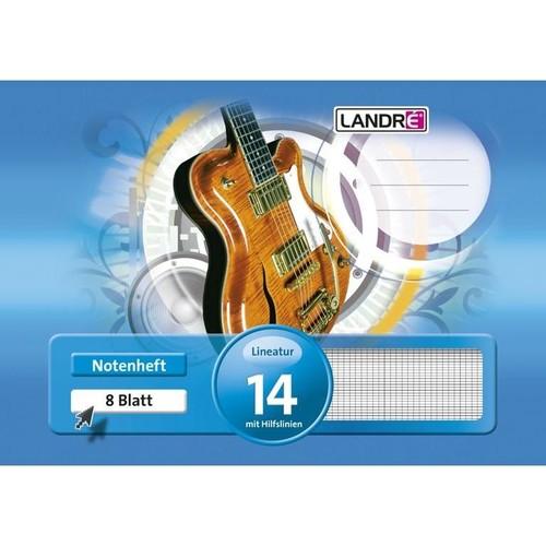 Notenheft A5 mit Hilfslinien 8Blatt 80g Landré 100050467 Produktbild