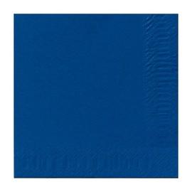 Servietten 1/4 Falz 33x33cm 3-lagig dunkelblau Duni 154493 Produktbild