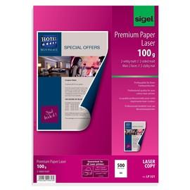 Fotopapier Laser+Kopier Premium A4 100g superweiß beidseitig matt Sigel LP321 (PACK=500 BLATT) Produktbild