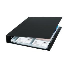 Visitenkartenringbuch mit Register für 400Karten schwarz Kunststoff Sigel VZ301 Produktbild