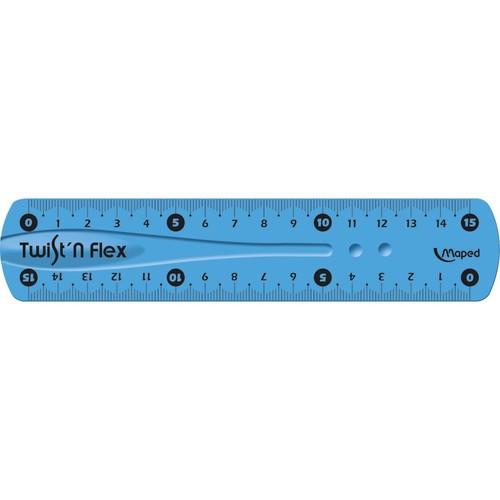 Lineal Twist'n Flex 15cm verschiedene Farben Kunststoff biegsam Maped M279110 Produktbild Additional View 1 L