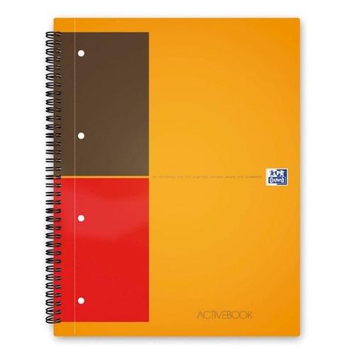 Activebook Oxford International A4+ liniert 4-fach Lochung 80Blatt 80g Optik Paper weiß 100102994 Produktbild Additional View 1 L