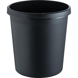 Papierkorb Standard 18l schwarz Helit H6105895 Produktbild